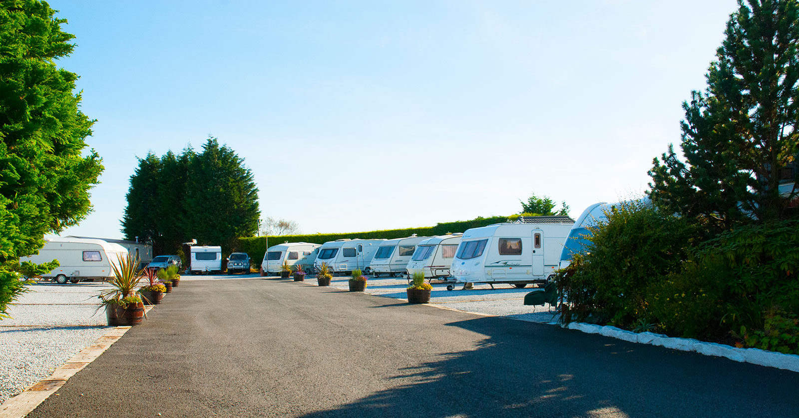 Red Deer Village Holiday Park touring caravan and motorhome pitches