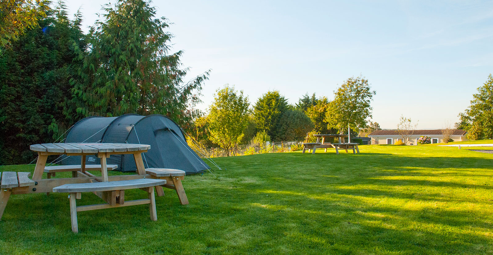 spacious camping pitches at red deer village holiday park